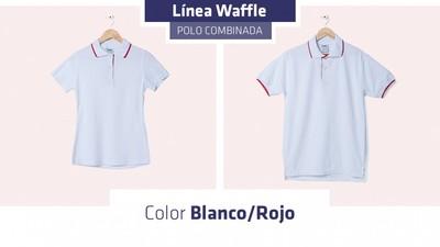 Su línea de tejido waffle tiene una composición de 50% algodón peinado y 50%  poliester. Es una textura suave y resistente. e23829b9407c4