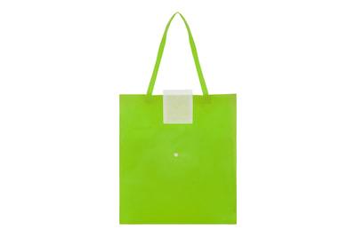 c983af5d9 Medidas 13 x 11 cm. (cerrado) 40 x 34,5 cm. (abierto). Non woven. Bolsa  ecológica, posee una solapa color blanco con botón que permite compactar la  bolsa.
