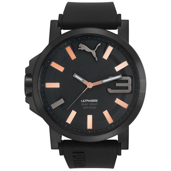 c91be8c63 RELOJ PUMA ANALOGO EXTENSIBLE CAUCHO HOMBRE Reloj PUMA para Caballero de la  familia Ultrasizeen, caratula con extensible de Silicón color Negro y  cristal ...